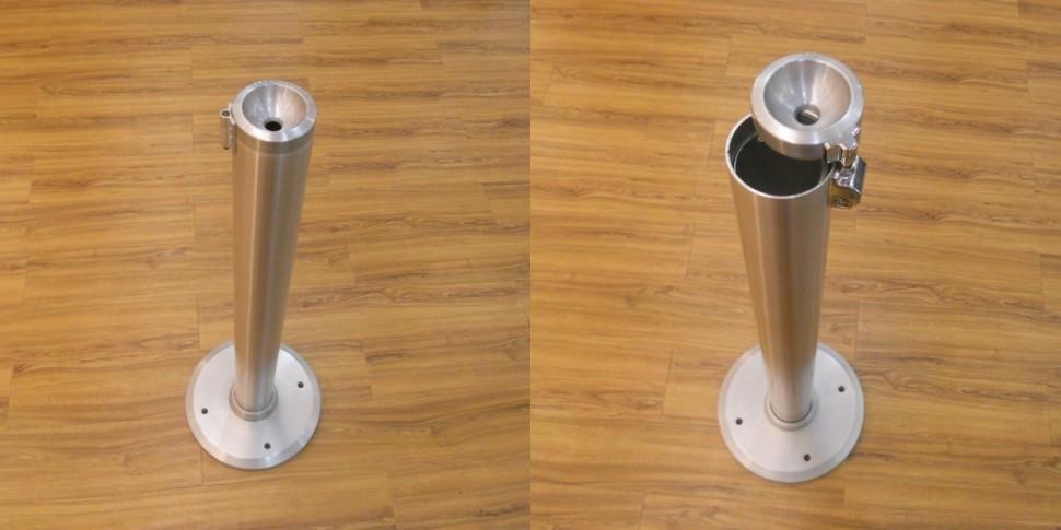 Smokking Circle Floor  <p> Aluminium floor ashtray