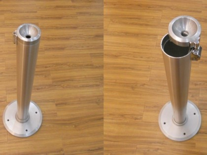 Circle Floor  <p> Aluminium floor ashtray