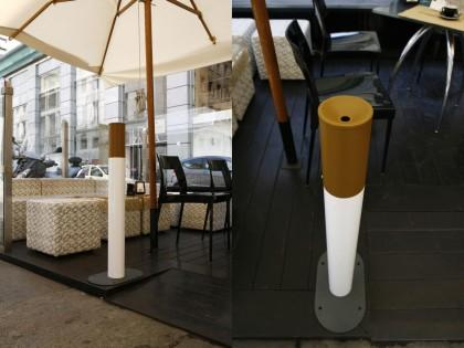 Totem  <P>  Totem Steel floor ashtray