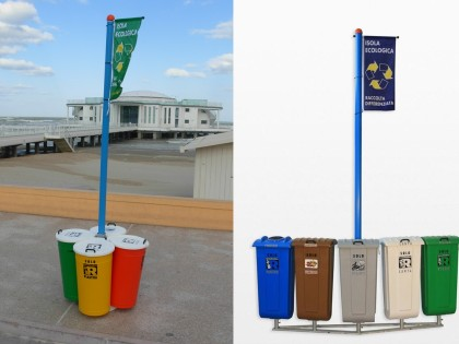 Separate waste collection <p> Mini Ecological Islands